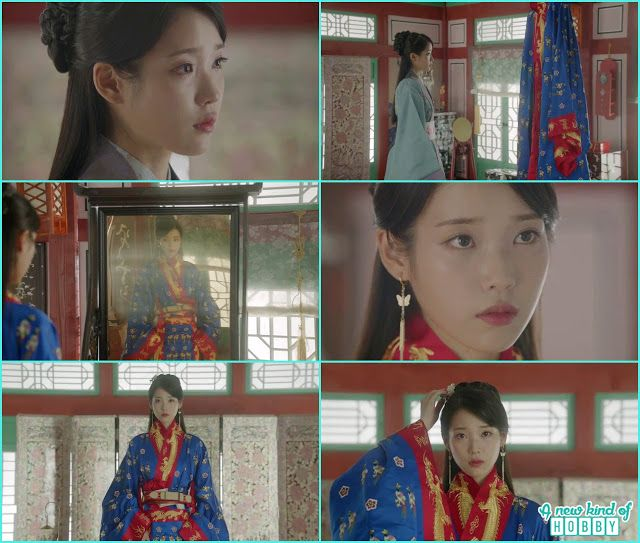 hae soo wear the wedding dress and look into the mirror ...