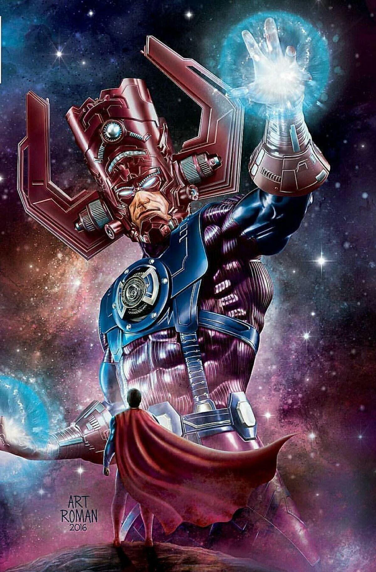 Galactus Die Funf Grossen Superschurken Darkseid Galactus Thanos