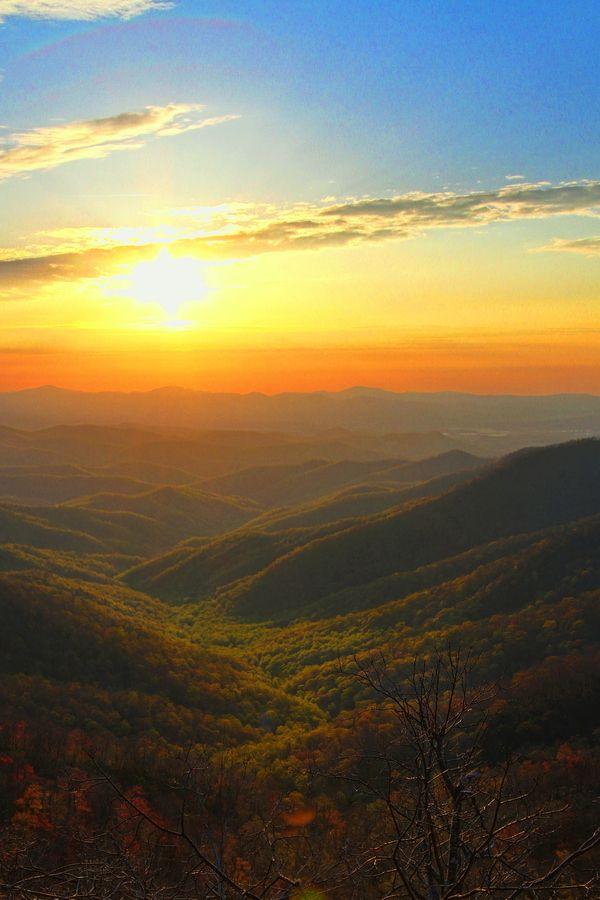 Amanecer en el Monte Pisgah