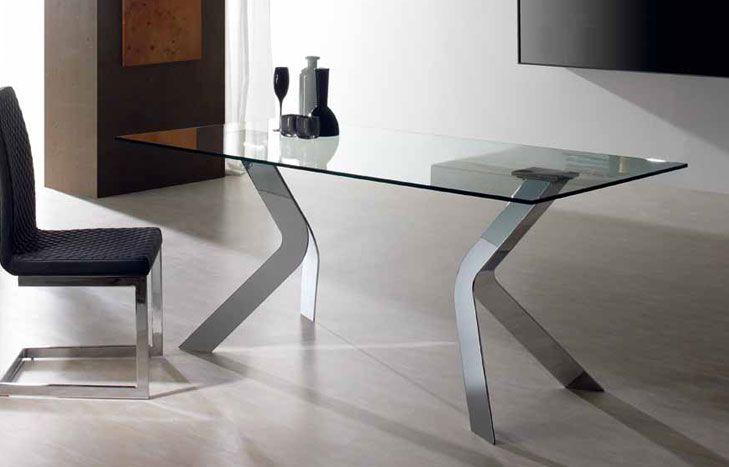 Mesa comedor Medidas: 150 ó 180 ó 200 cm x 90 x 76 cm Cristal ...