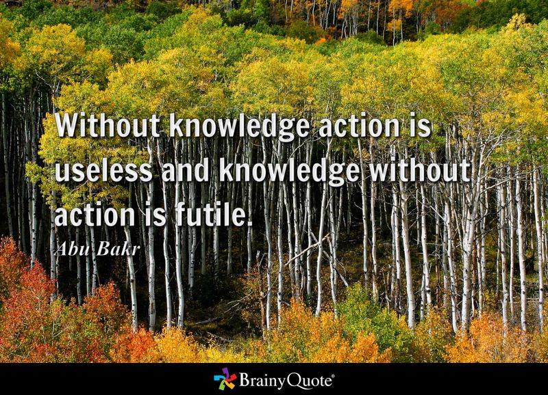 without knowledge