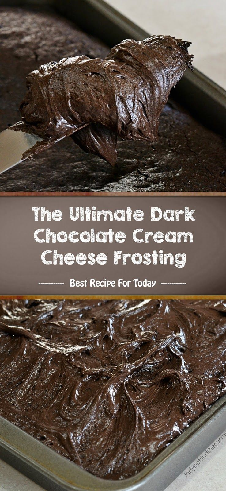 The Ultimate Dark Chocolate Cream Cheese Frosting Best Recipe 005 Resep Makanan Resep Makanan Penutup
