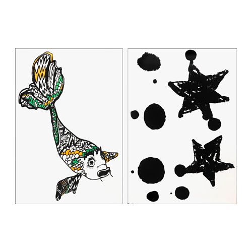 IKEA - SPRIDD, Décoration adhésive, Les autocollants décoratifs - Poser Papier A Peindre