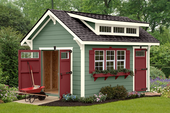 She Shed Ulrich Sheds Cabin Shells Shed Cabin Backyard Sheds Craftsman Sheds