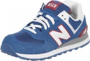 Feuilleter France Hommes Chaussures Casual New Balance ML574 Bleu Profond / Rouge / Blanche sur le site