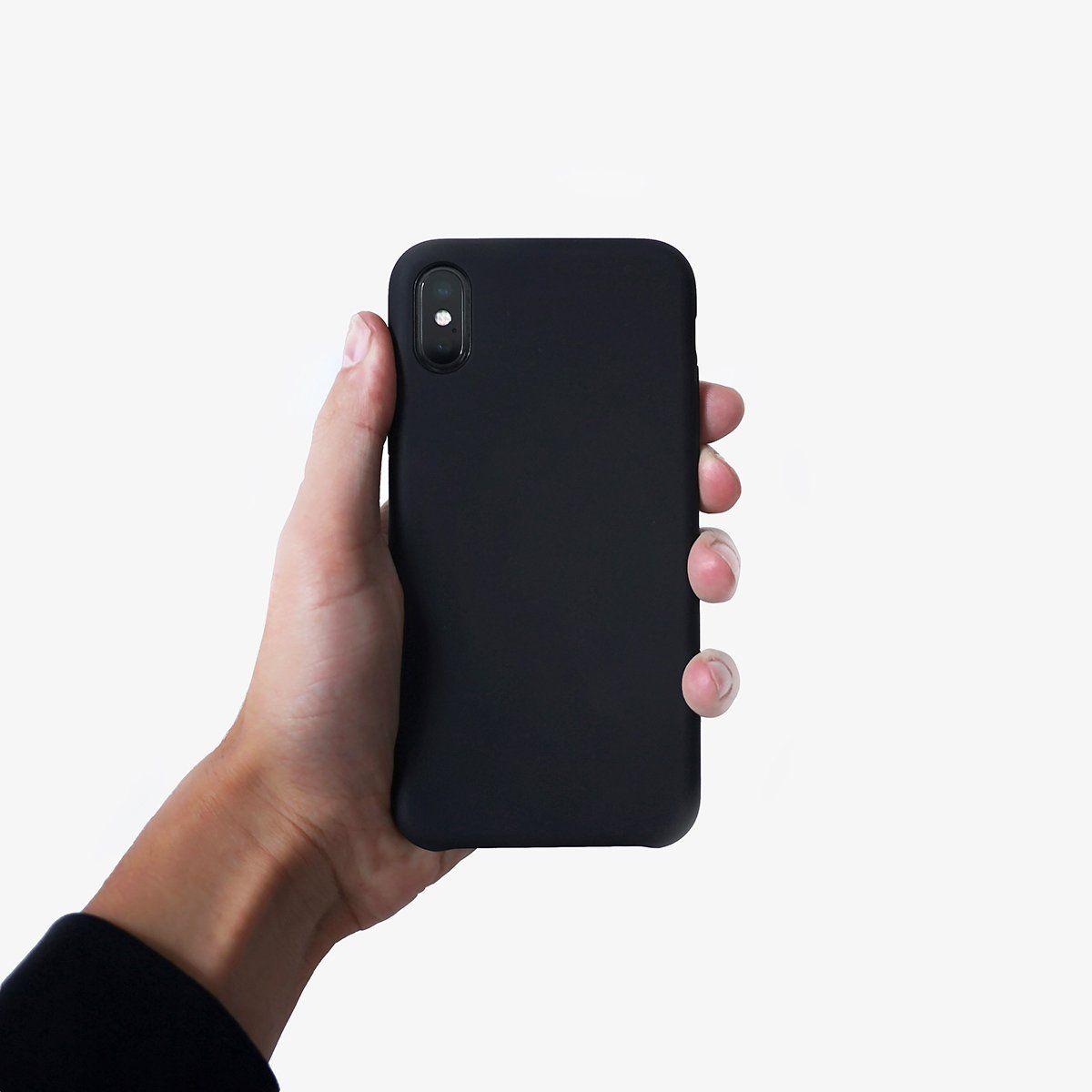 Matte Black Iphone Case Case Desain Kemewahan