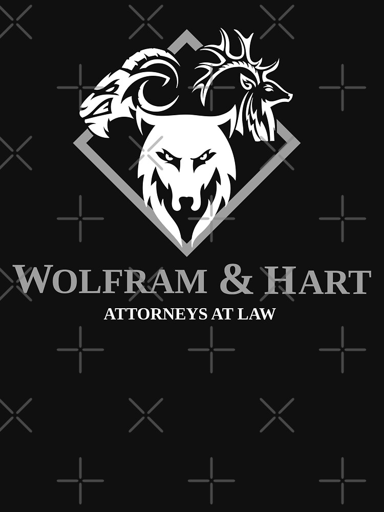 Wolfram And Hart Attorneys At Law Essential T Shirt By Mcpod Attorney At Law T Shirt Attorneys