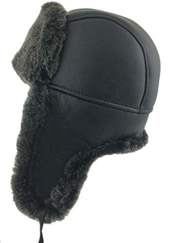 27e2c01a1a4 Zavelio Mens Shearling Sheepskin Aviator Russian Hat XLarge Black -- Be  sure to check out