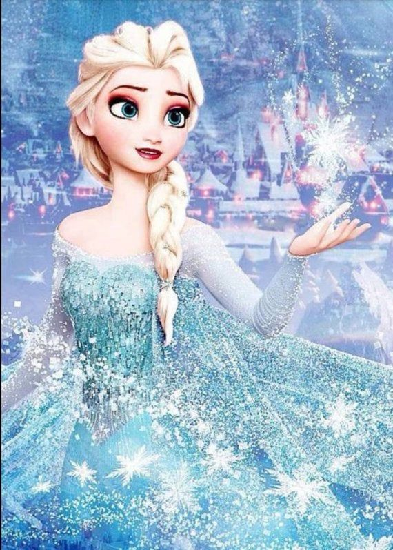 5D DIY Diamond Mosaic Snow Princess Diamond Painting Cross Stitch Elsa Kit Diamonds Embroidery Square Drill Home Decoration Picture