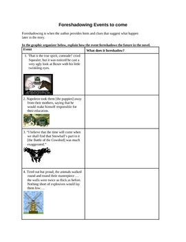 Animal Farm Foreshadowing Graphic Organizer Teacher Toolbox Holiday Math Worksheets Writing Prompt By Chapter