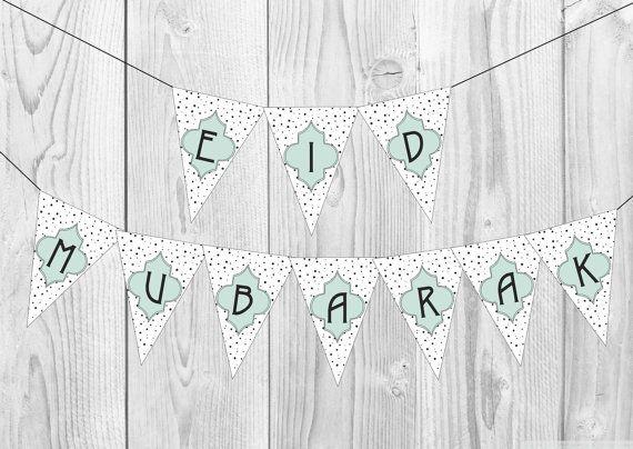 Printable Eid Banner Printable Ramadan Banner Eid Decor Ramadan Decor Eid Sign Eid Mubarak Party Decor Digital Download Eid Banner Ramadan Decorations Eid Decoration