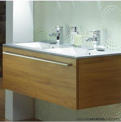 Java Designer Double Sink Bathroom Vanity Unit Main Image