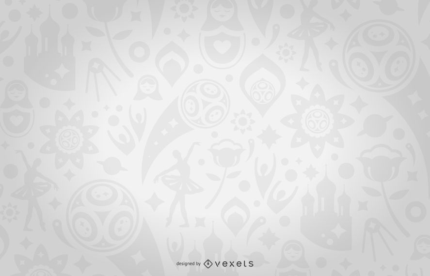 Russia 2018 Fifa Football World Cup Pattern Design For A Background Featuring Illustrations And Symbols In Tones Business Card Template Word Fifa Fifa Football