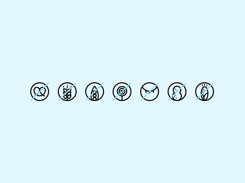 Intolerant Icons in 2019 | + NS - Guia alimentos | Icon design, Line