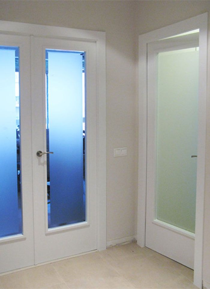 Lacado blanco puertas viejas dm lacado pinterest - Cristales puertas interiores ...
