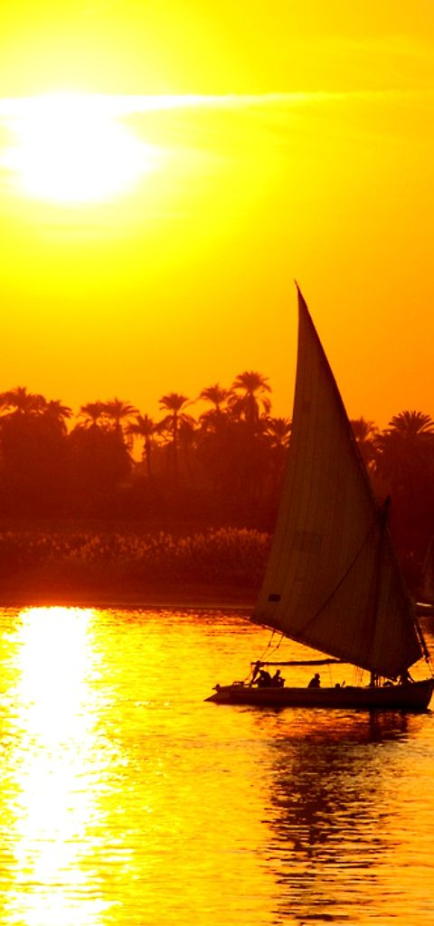 Sunset at the Nile Egypt