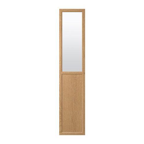 OXBERG Panel/glass door Oak veneer 40 x 192 cm | New House