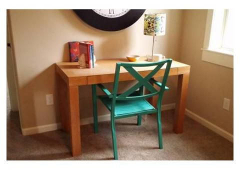 West Elm Parsons Desk Used For Sale