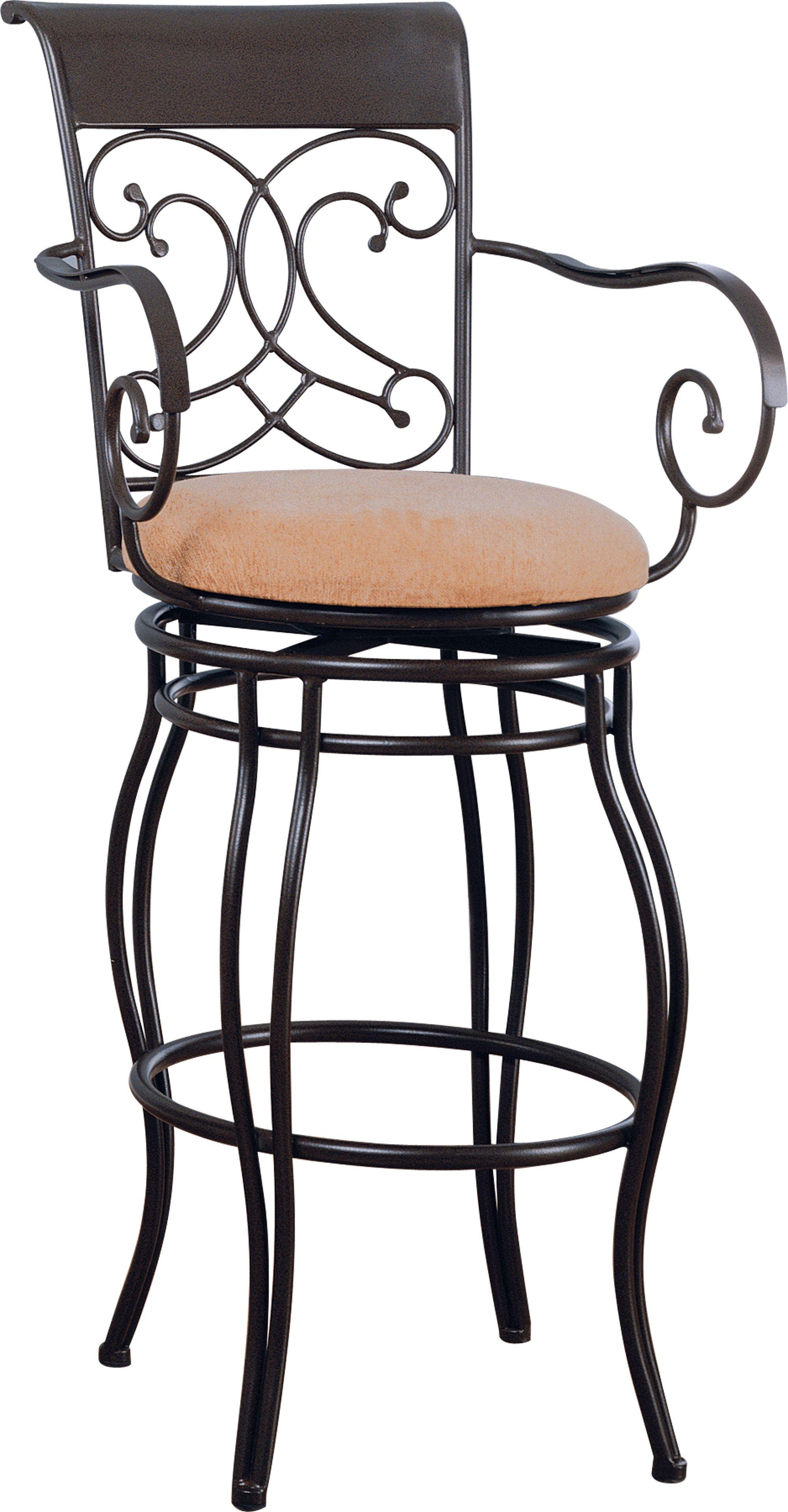 Coaster Dark Brown 29 Metal Bar Stool With Upholstered Seat