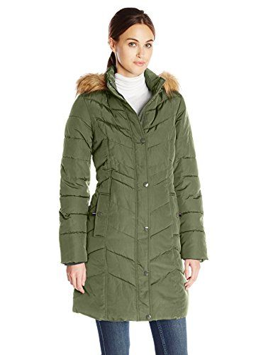 Tommy Hilfiger Women's Long Chevron-Quilted Down Coat >>> Details ... : quilted long down coat - Adamdwight.com