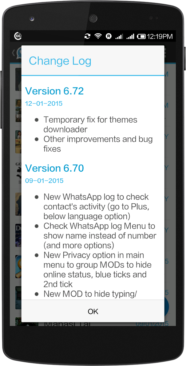 WhatsApp + v6 72C Patched Apk | Latest Android Pro Application