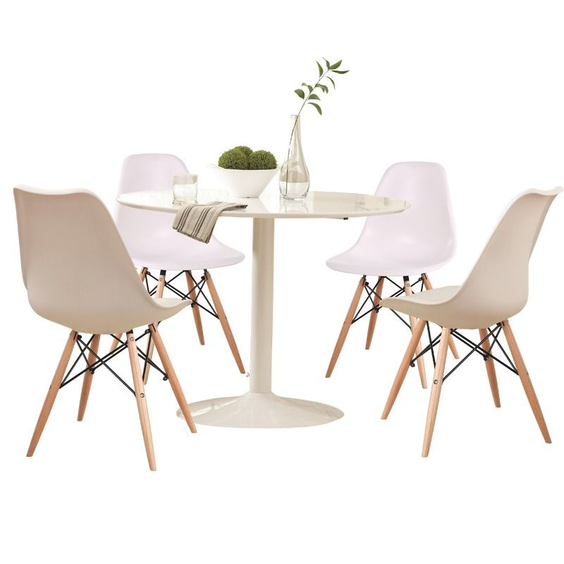 Lowry 5 Piece White Dining Set | Weekends Only Furniture And Mattress