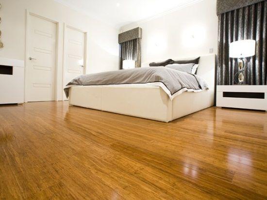 Bamboo Flooring Applied In Bedroom