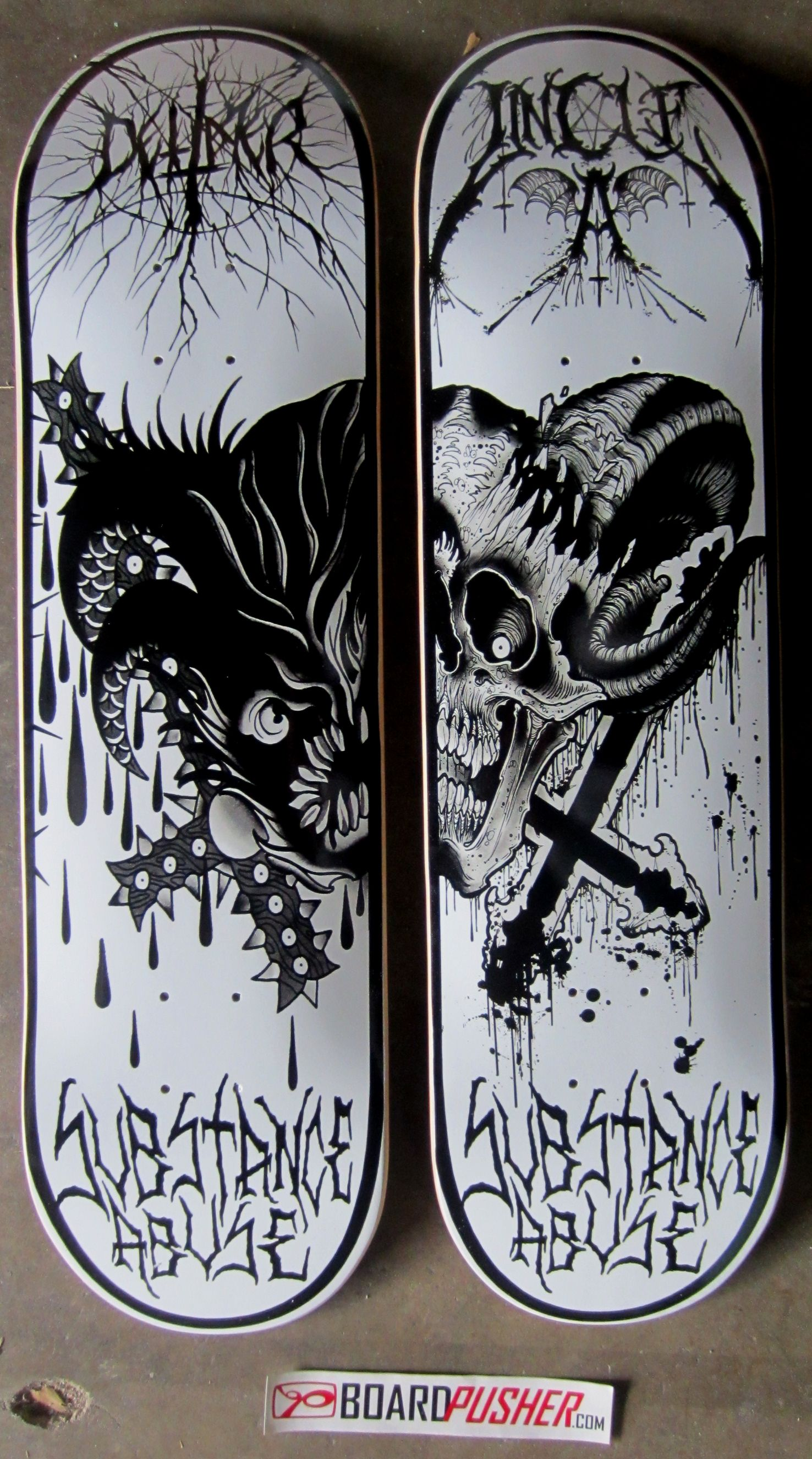 Get today 39 s featured decks dettmer and uncle a or a - Skateboard dessin ...