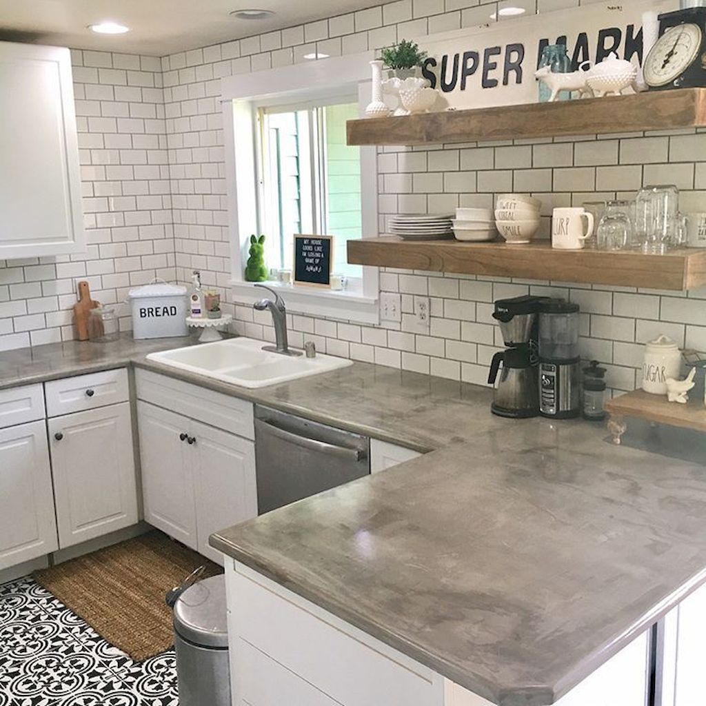 Cocina 33 33 Modern Farmhouse Kitchen Cabinet And Countertops Ideas