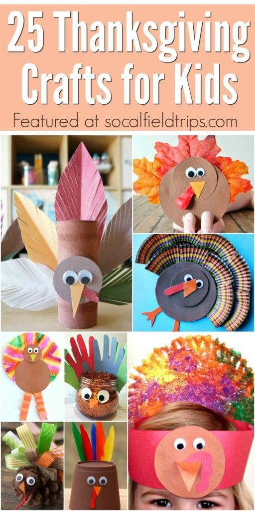 Easy Thanksgiving Craft Ideas For Kids Part - 32: 25 Easy Thanksgiving Crafts For Kids