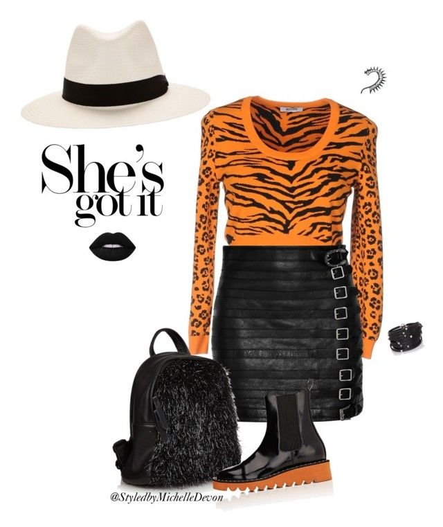 """""""She's Got it💋"""" by michelledevon ❤ liked on Polyvore featuring Moschino Cheap & Chic, Gucci, Lime Crime, Sif Jakobs Jewellery, rag & bone and STELLA McCARTNEY"""
