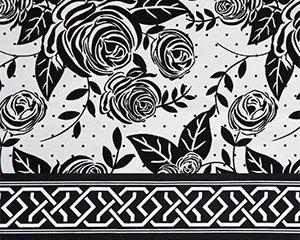 Bella Taylor's Rose Pop Fabric Swatch