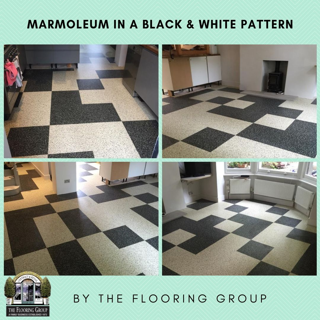 Hall Black white pattern, White patterns, Flooring