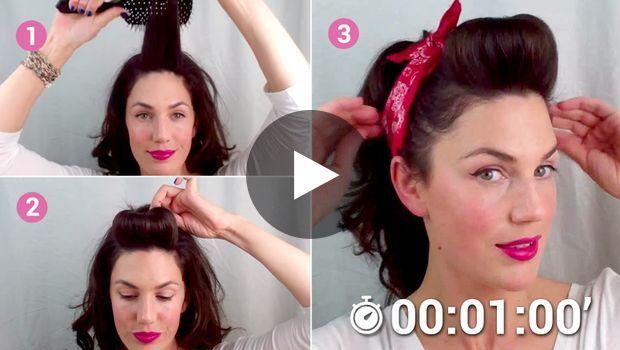 Une superbe coiffure de Pin Up en 1 minute chrono Hair