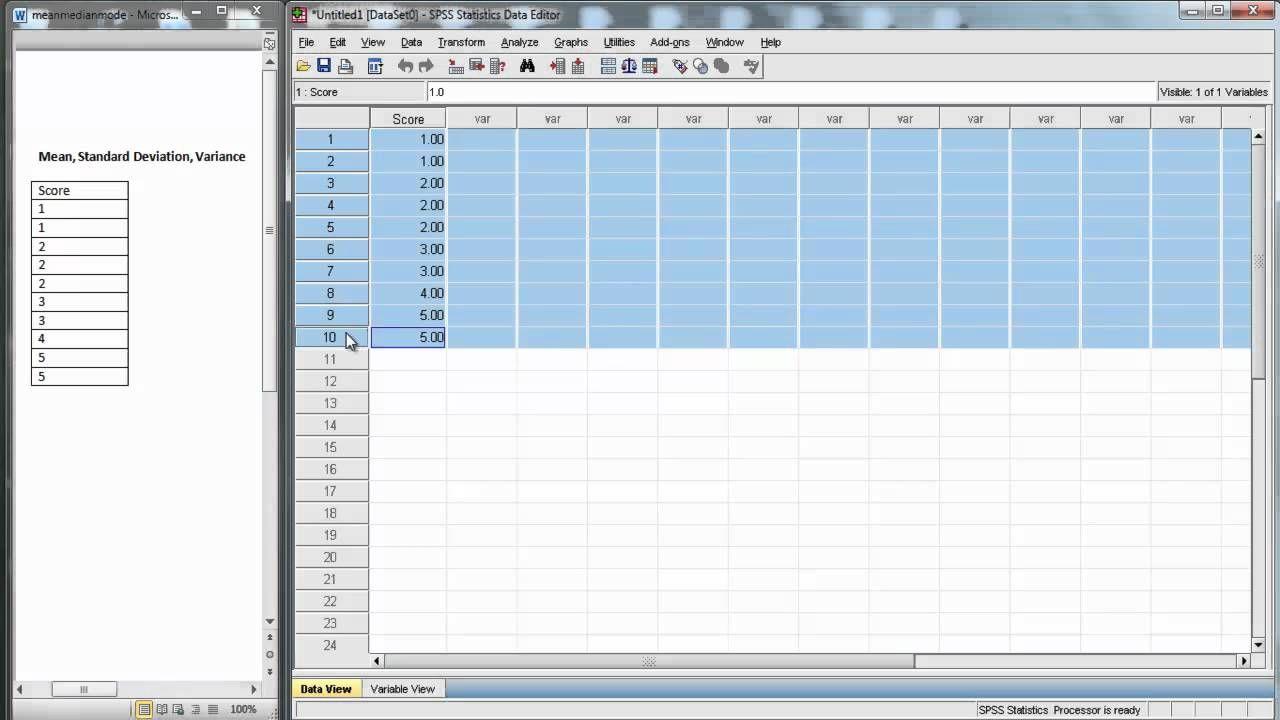Spss Descriptive Statistics Statistics Academic Writing