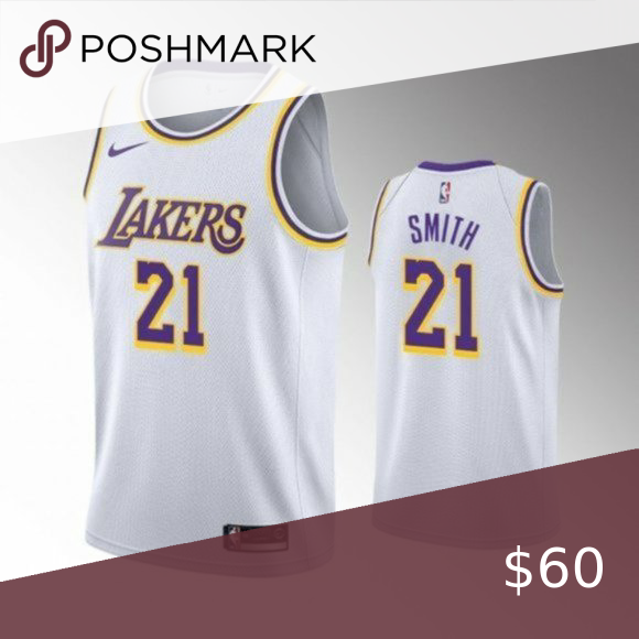 Los Angeles Lakers J R Smith White Jersey In 2020 White Jersey Los Angeles Lakers Nba Shirts