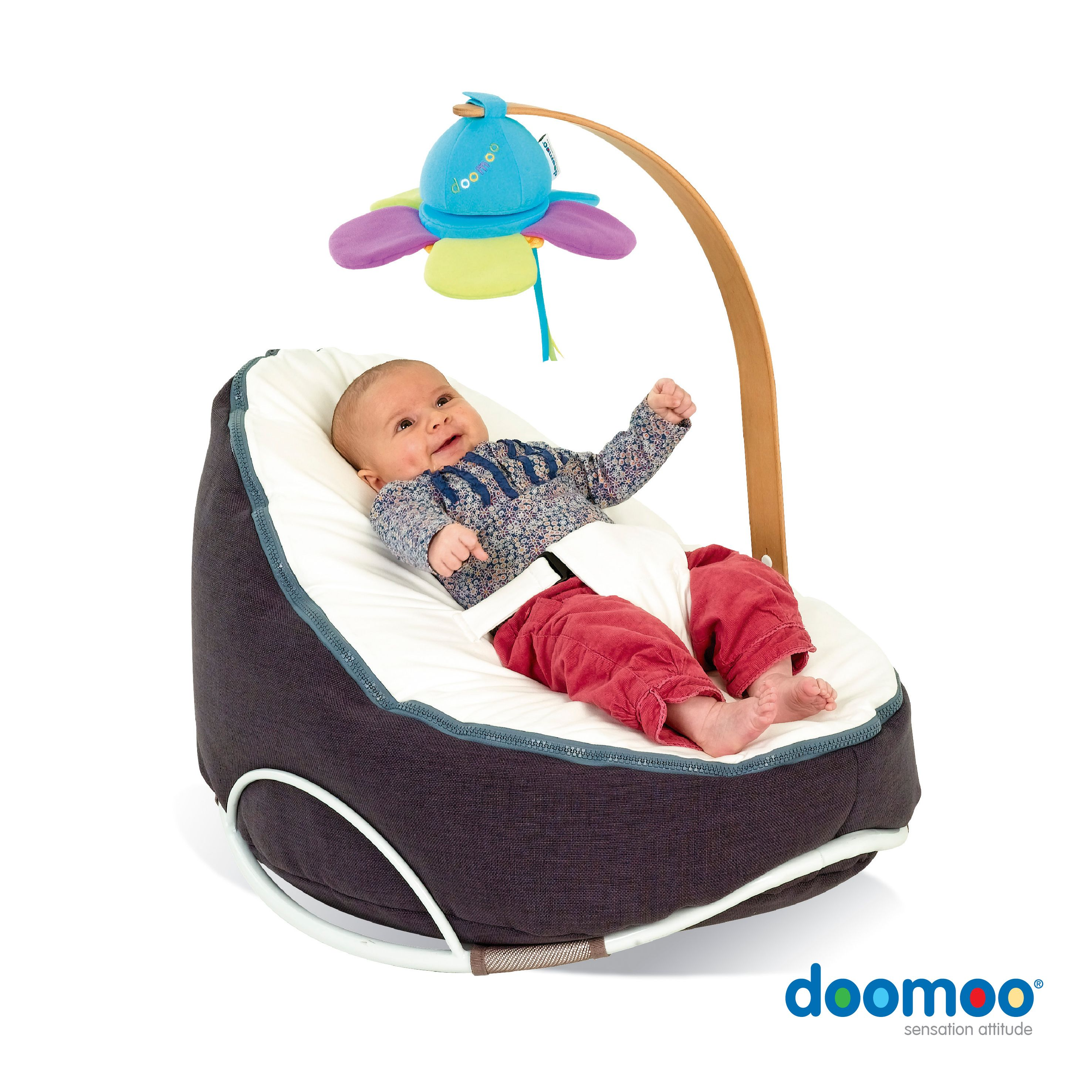 doomoo seat Home Grey White with Arch Swing
