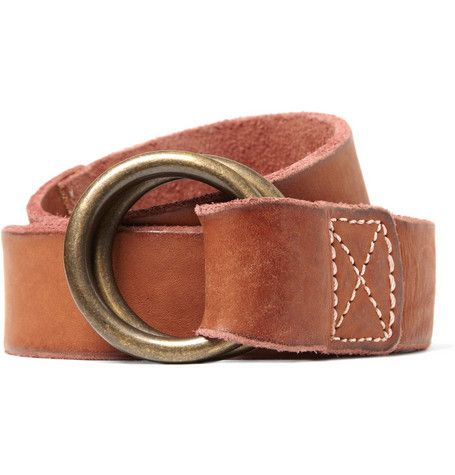 Jean Shop Double Ring Buckle Leather Belt Mr Porter Mens