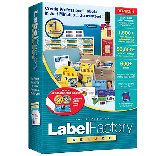 Label Factory Deluxe 4 Label Making Software