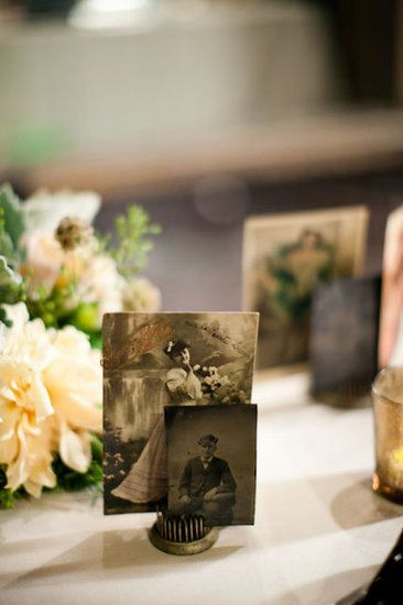 Vintage Photo Table Accents