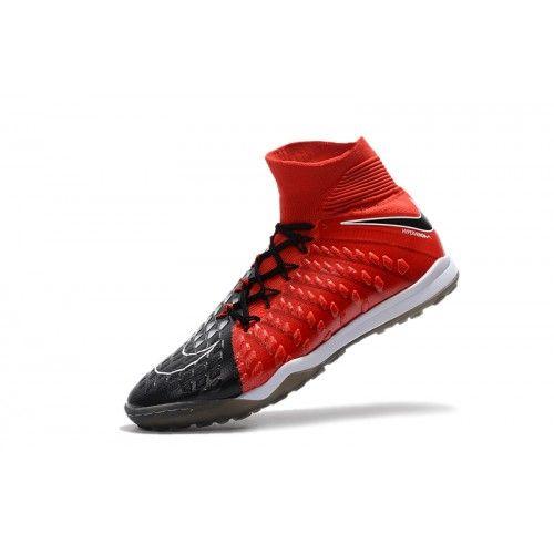 buy online 63f6a 02edd Nike Hypervenom - Vente 2017 Nike Hypervenom Phantom III DF TF Online Noir  Rouge Chaussures De