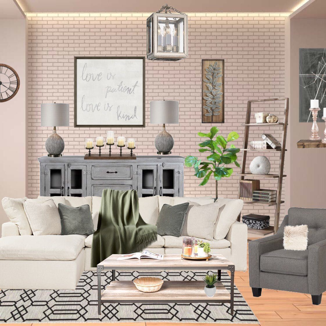 A Cozy Brick House Interior Living Room Designed By One Of Our