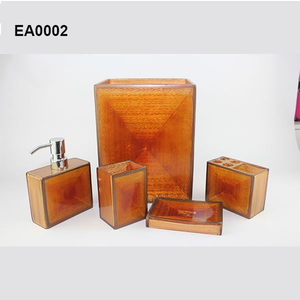 Burnt Orange Bathroom Accessories Home With Images Orange