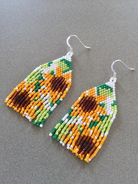 Beaded Earrings Patterns Free Beadedearrings Beaded Earrings