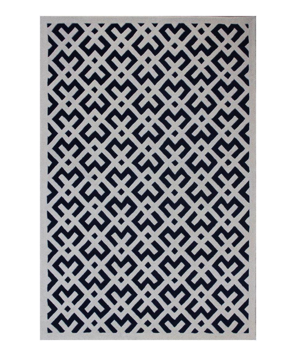 Look what I found on #zulily! Dark Blue & Ivory Tally Chatham Wool Rug by Safavieh Rugs #zulilyfinds