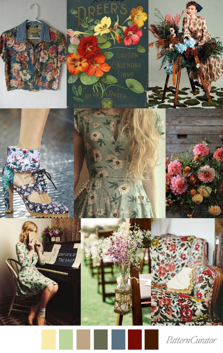 S/S 2018 print \u0026 colors trends rustic chic