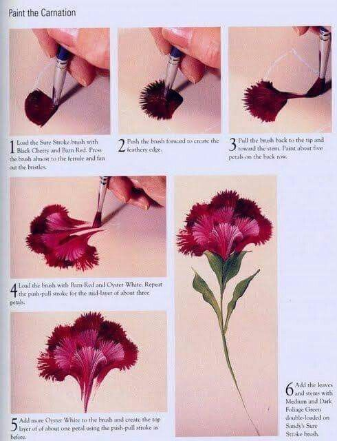 How to handpainted a carnation | handpainted items | Painting, One
