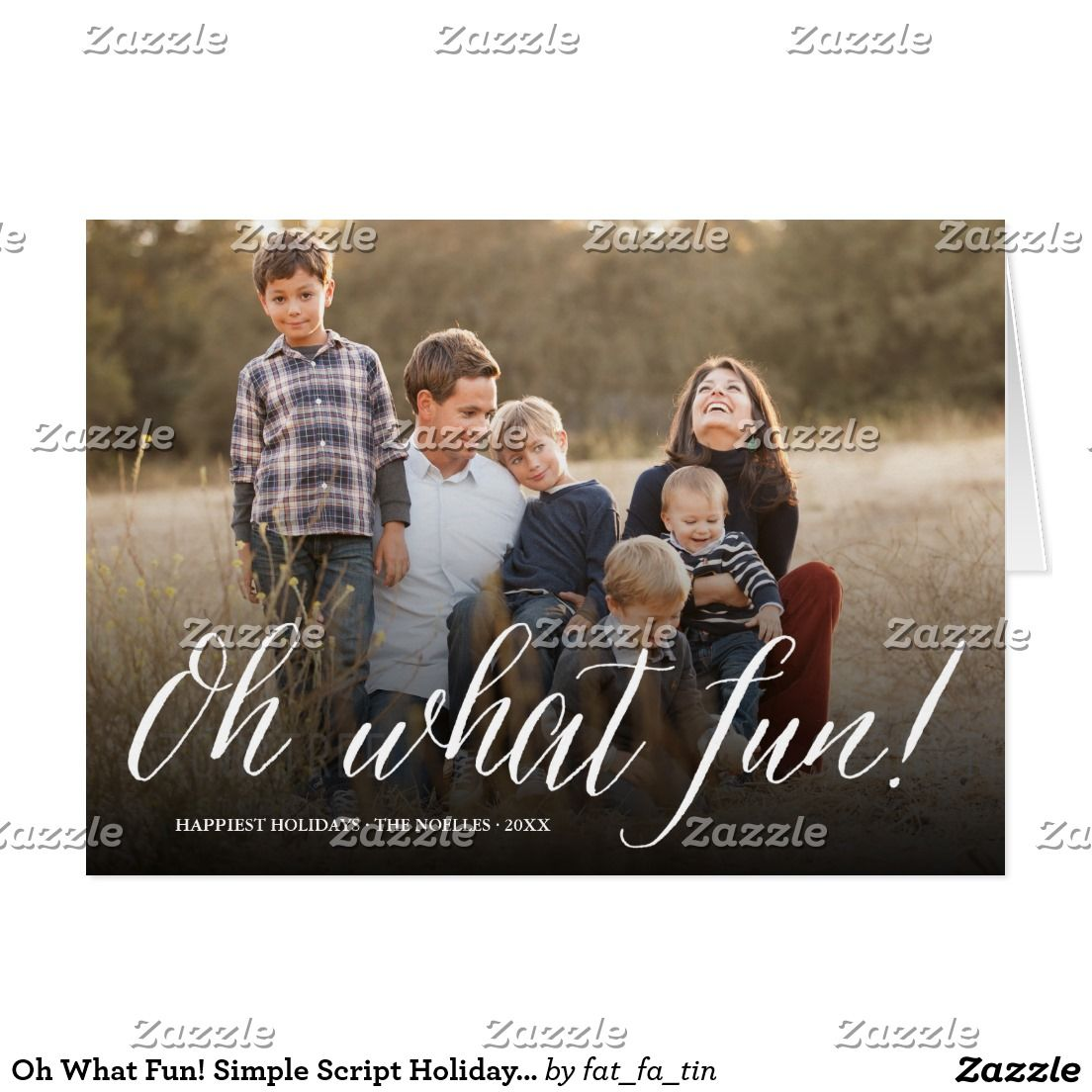 Oh What Fun! Simple Script Holiday Photo Card | Custom CHRISTMAS ...