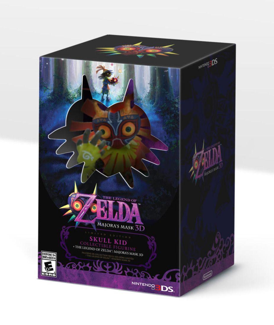 Majora S Mask 3d Collector S Edition With Skull Kid Figure Missed Prints Majoras Mask Legend Of Zelda Action Figures Toys