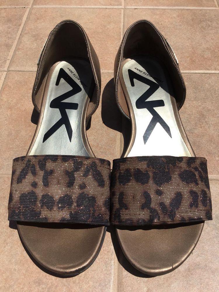 Anne Klein Sport Shoes 6M Brown/Chetah Women's Slip On